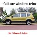 Для N-issan Livina с центральным столбом из нержавеющей стали  полностью оконная отделка  Декоративная полоса  автомобильный Стайлинг