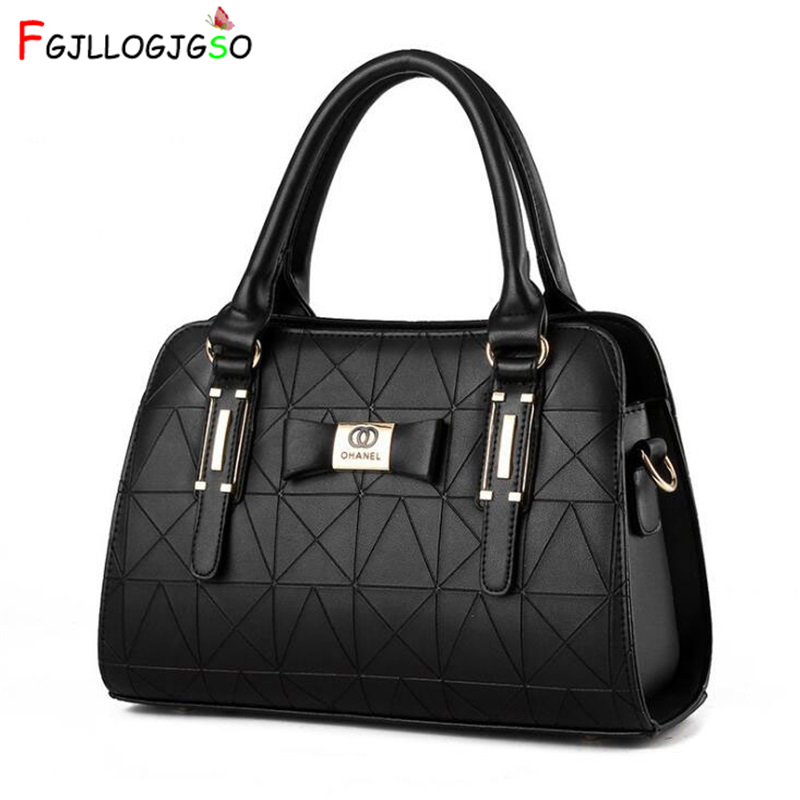 FGJLLOGJGSO New Arrival Fashion Luxury Women Handbag PU Leather Shoulder Bags Lady Large Capacity Crossbody Hand Bag Sac A Main new fashion women chain shoulder bag crossbody bag shiny bling lady clutch purse luxury patent leather female handbag sac a main