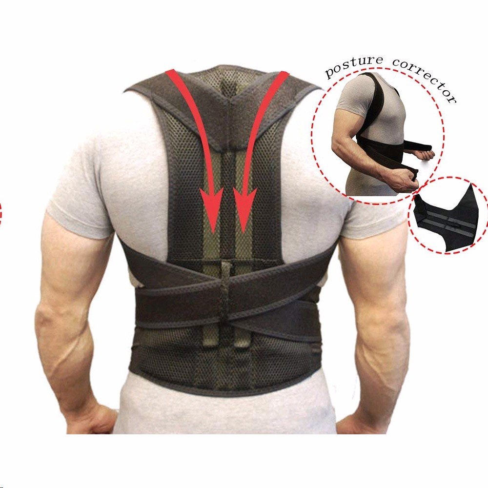 2019 Brack Support Belt Adjustable Back Posture Corrector Spine Back Shoulder Straightener  Posture Correction For Men Women
