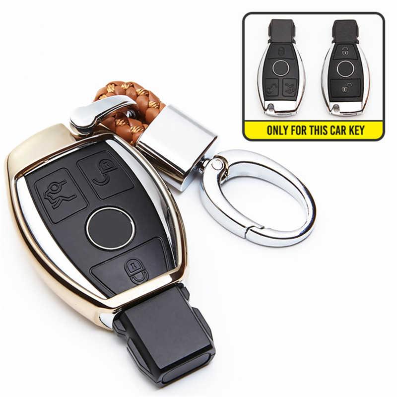 Tpu caso capa chave do carro para mercedes benz c classe amg w203 w210 w211 w124 w202 w204 w205 w212 w176 gle w166 coupe c292 ml gls cla
