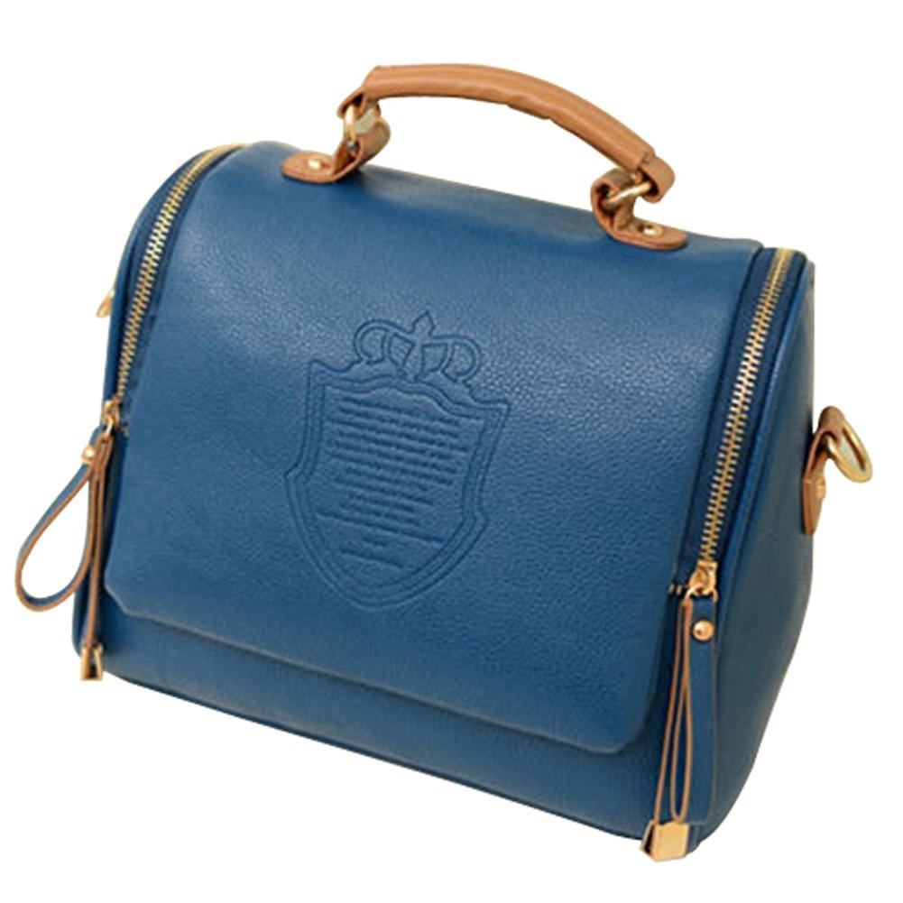 Fashion Women Handbag Synthetic Leather Vintage Stamping Shield Camera Satchel Shouder Bags Messenger cross body bag