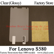 Clear Glossy Screen Protector Guard Cover protective Film For Lenovo S580 phone