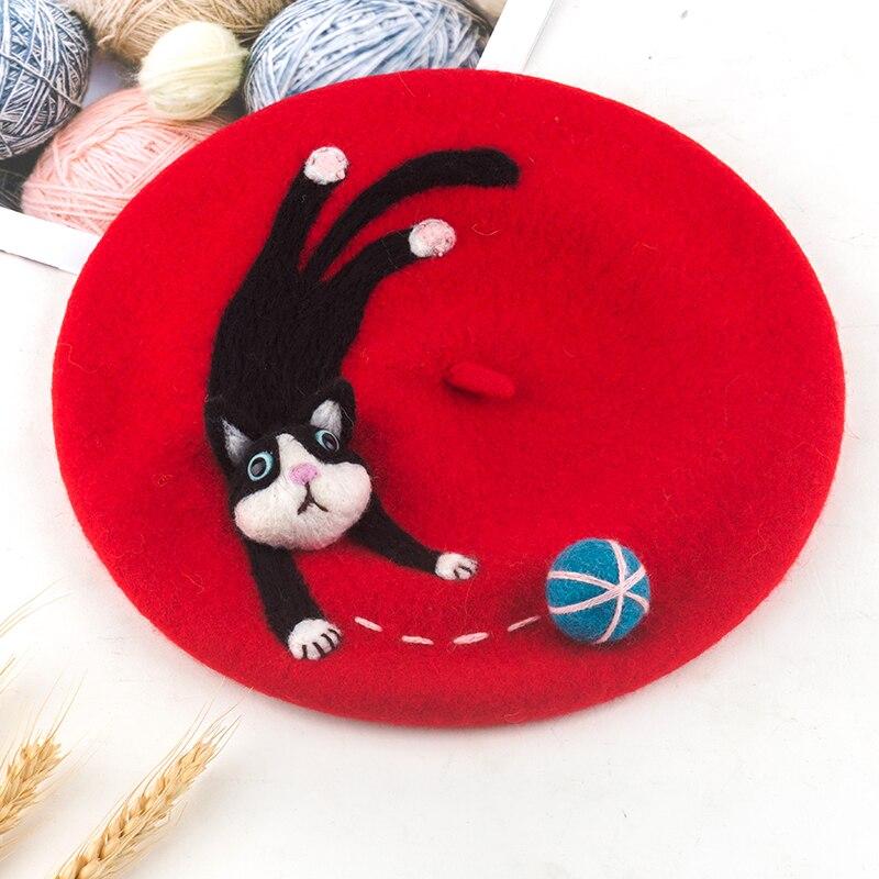 Faramita férias bonito gato jogar bola vermelha