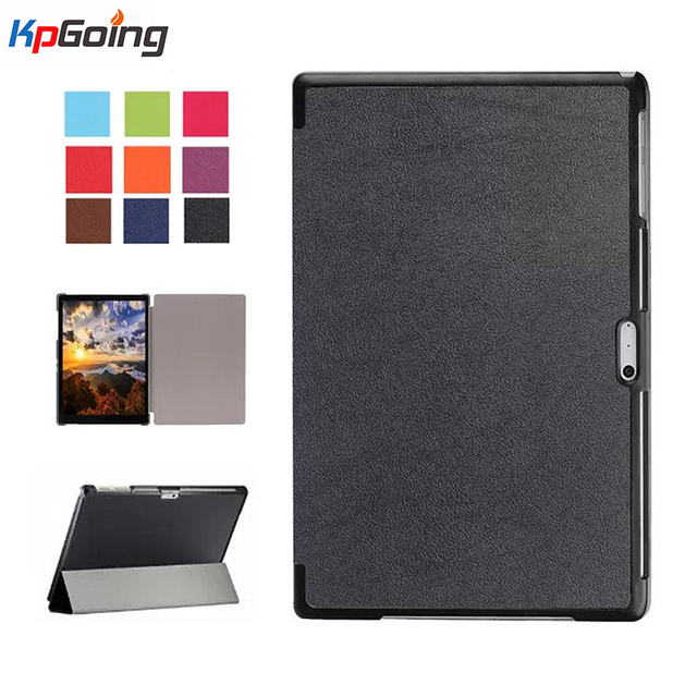 Fashion Case for Surface Pro 4 Folding Folio Business Style PU Leather Stand Magnetic Tablet Cover for Microsoft Surface Pro 4