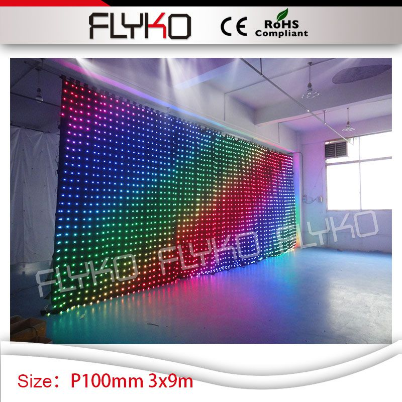 nightclub design hd movis sex full xxx video P100mm 3mx9m led dj light curtain for party night club
