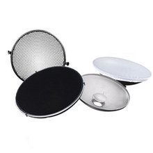 Photo Studio Flash Beauty Dish 42cm S type Honeycomb + White Diffuser with Honeycomb & Diffuser