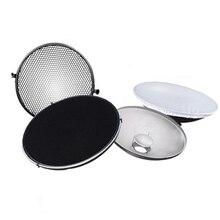 Studio fotograficzne lampa błyskowa Beauty Dish 42cm S typ Honeycomb + biały dyfuzor z plastra miodu i dyfuzorem