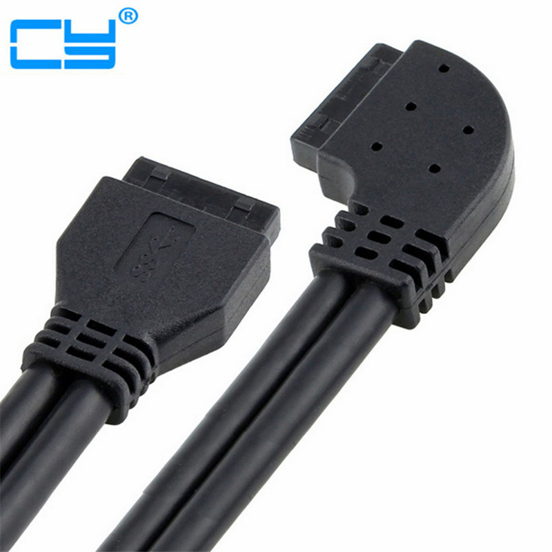 High Speed Cable Usb 3 0 Left Angled 90 Degree Motherboard