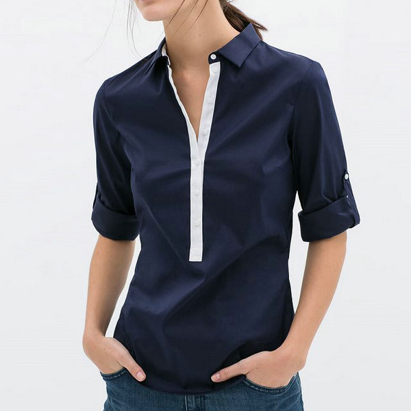 Collection Womens Navy Blue Blouse Pictures - Reikian