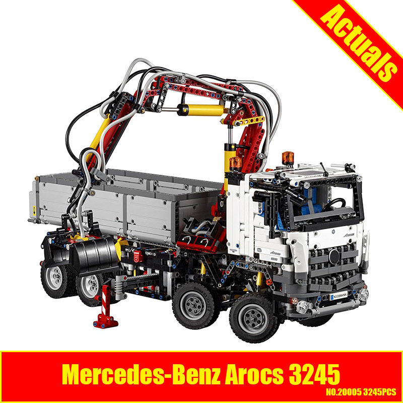 LEPIN 20005 3245pcs NEW technic series 42043 Arocs Model Building Block Bricks Compatible with Boys Toy Educational Gift lepin technic series building bricks 20005 2793pcs arocs truck model building kits blocks compatible 42043 boys toys gift