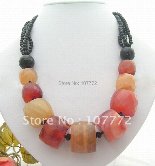 Natural Onyx&Carnelian Necklace