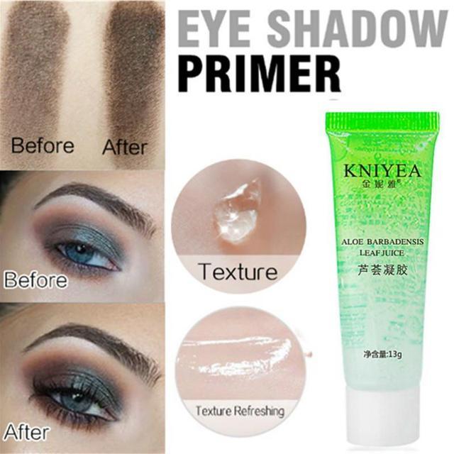 Professional Natural Primer Makeup Transparent Gel Aloe 100% Pure Plants Base Primer Eyeshadow Primer Women Cosmetics