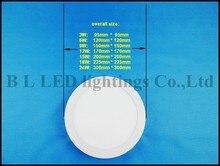 LED panel light ceiling flat light lamp round surface mount panel light  120X120 6W / 170X170 12W / 225X225 18W / 300X300 24W