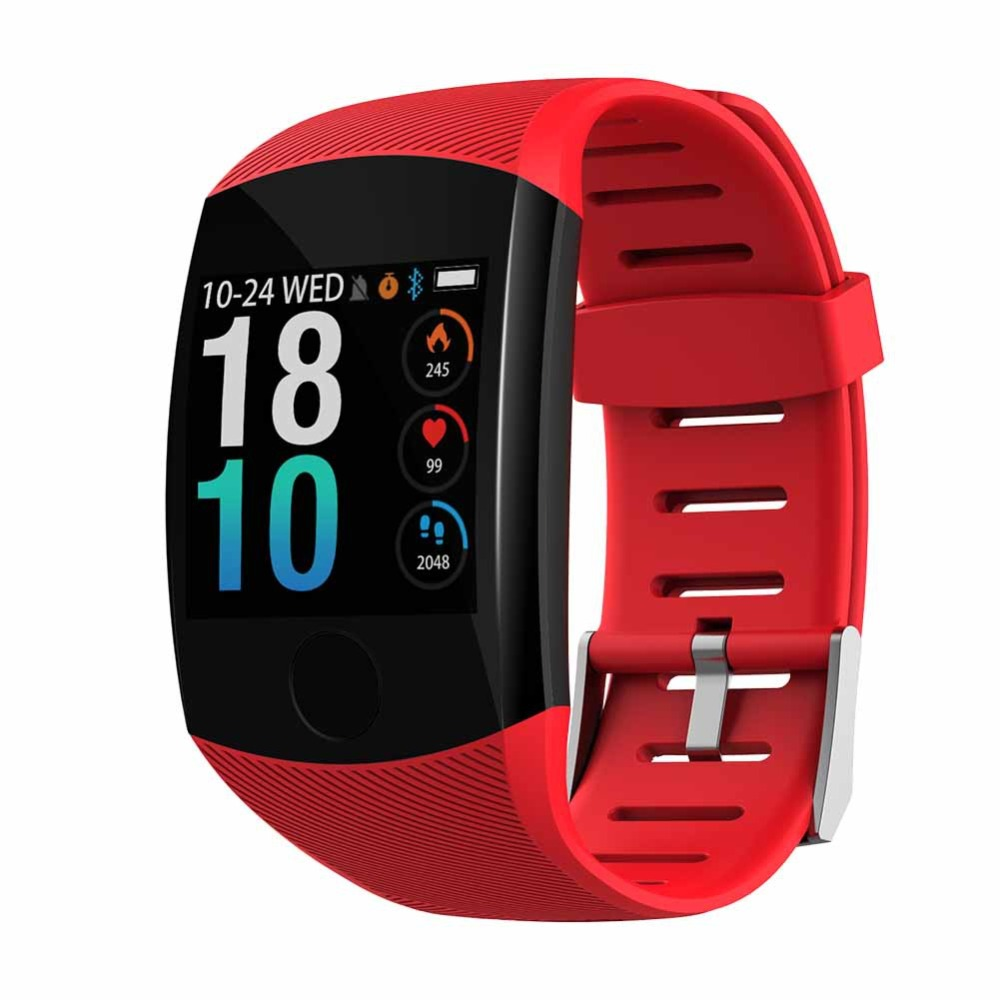 Q11 Smart Watch Waterproof Fitness Bracelet Big Press Screen Message Remind Heart Rate Time Smartband Activity Tracker Wristband
