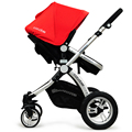 Super Pram Portable Trolley Two-way High Landscape Baby Stroller Can Sit Can Lie Flat Cart Suspension Folding Baby Carriage