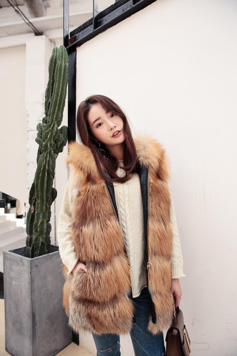 Fourrure Pour Britannique Gilets Fabuleux De Londres Rouge Gilet Style Taille La Naturel D'hiver Femmes Plus Renard qYaWZHYTw
