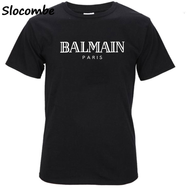 balmain shirt Balmain Paris T Shirt Men Fashion Letter T-Shirt Cotton Short Sleeve Shirts  for Men Summer Casual Funny T Shirts Tops Tee Tshirt