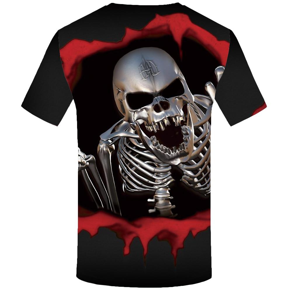 KYKU Marka Kafatası T Shirt Kan Giysi Komik Giyim Hip-Hop Tees 3D - Erkek Giyim - Fotoğraf 4