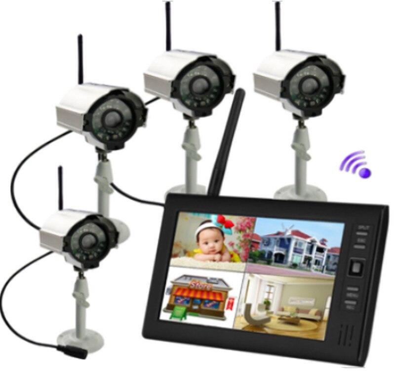 7 Inch 1V4 Wireless Digital Signal Outdoor Rain-Proof Baby Monitor