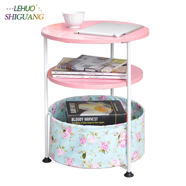 Double Layer Tea Table Mdf Coffee Height Adjule With