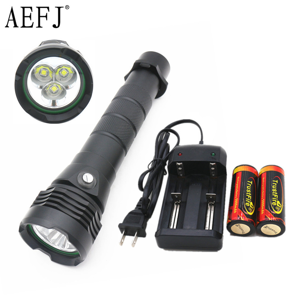 Lights & Lighting Led Flashlights Xm L2 Led Scuba Diving Flashlight 26650 Or 18650 Lantern Underwater Worklight Lampe Torche Charge Waterproof Torch Flashlight Without Return