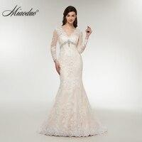 Miaoduo Vestidos De Novia Long Sleeve Lace Appliques Wedding Dress Mermaid Wedding Dresses 2018 Robe De