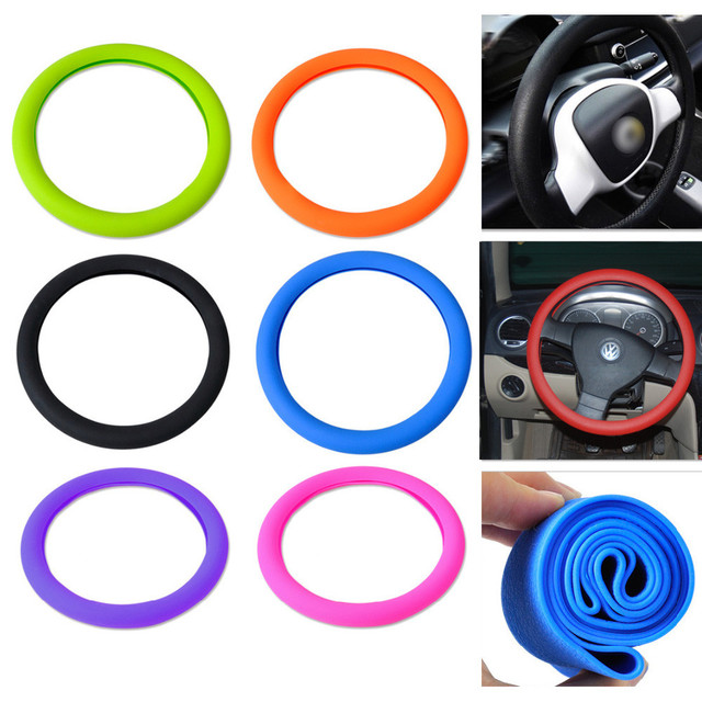 Soft Silicone Steering Car Auto Wheel Cover Shell Skidproof Eco Friendly for Mercedes for Audi for Nissan for VW for Peugeot