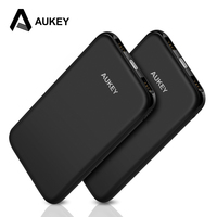 AUKEY Power Bank 10000mAh USB Slim External Portable Charger Battery Pack for Xiaomi iPhone X 8 Powerbank Mobile Phone Poverbank
