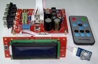 double AC12V Six channel volume remote control before amplifier finished board 6 Channel 3pcs NE5532 audio amplifier board