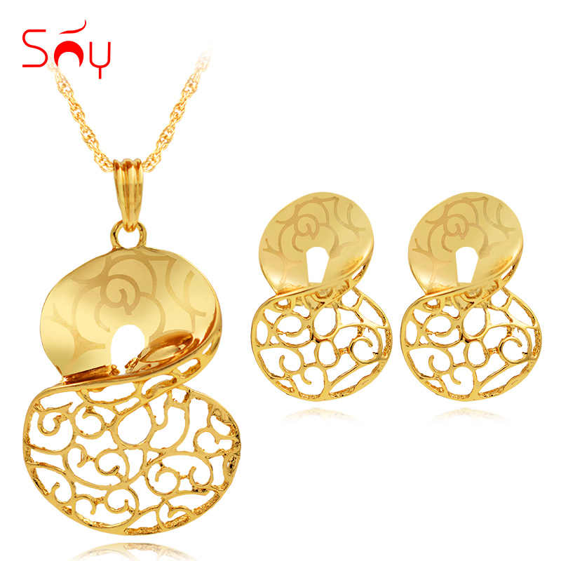 Sunny Jewelry Vintage Jewelry Sets Necklace Earrings Pendant For Wedding Twisted Cross Jewelry For Women Birthday Jewelry Gifts