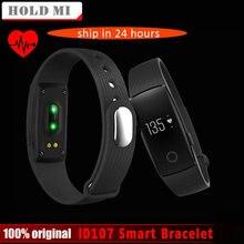 Оригинальный ID107 Bluetooth 4.0 Smart Браслет Smart Band монитор сердечного ритма Браслет фитнес-трекер для смартфонов IOS и Android