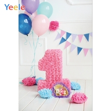 Yeele 1st Birthday Photocall Paper Flower Bear Ins Photography Backdrops Personalized Photographic Backgrounds For Photo Studio