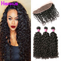 Brazilian Water Wave With Frontal 3Bundles Water Wave With Frontal Closure Lace Frontal With Bundles Brazilian Hair With Closure