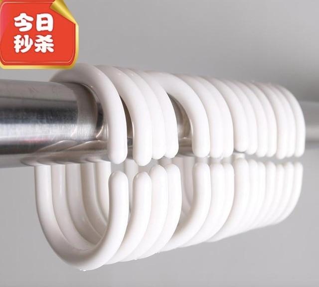 Inner Diameter25xH4CM Shower Curtain Ring Plastic C Bath Hook