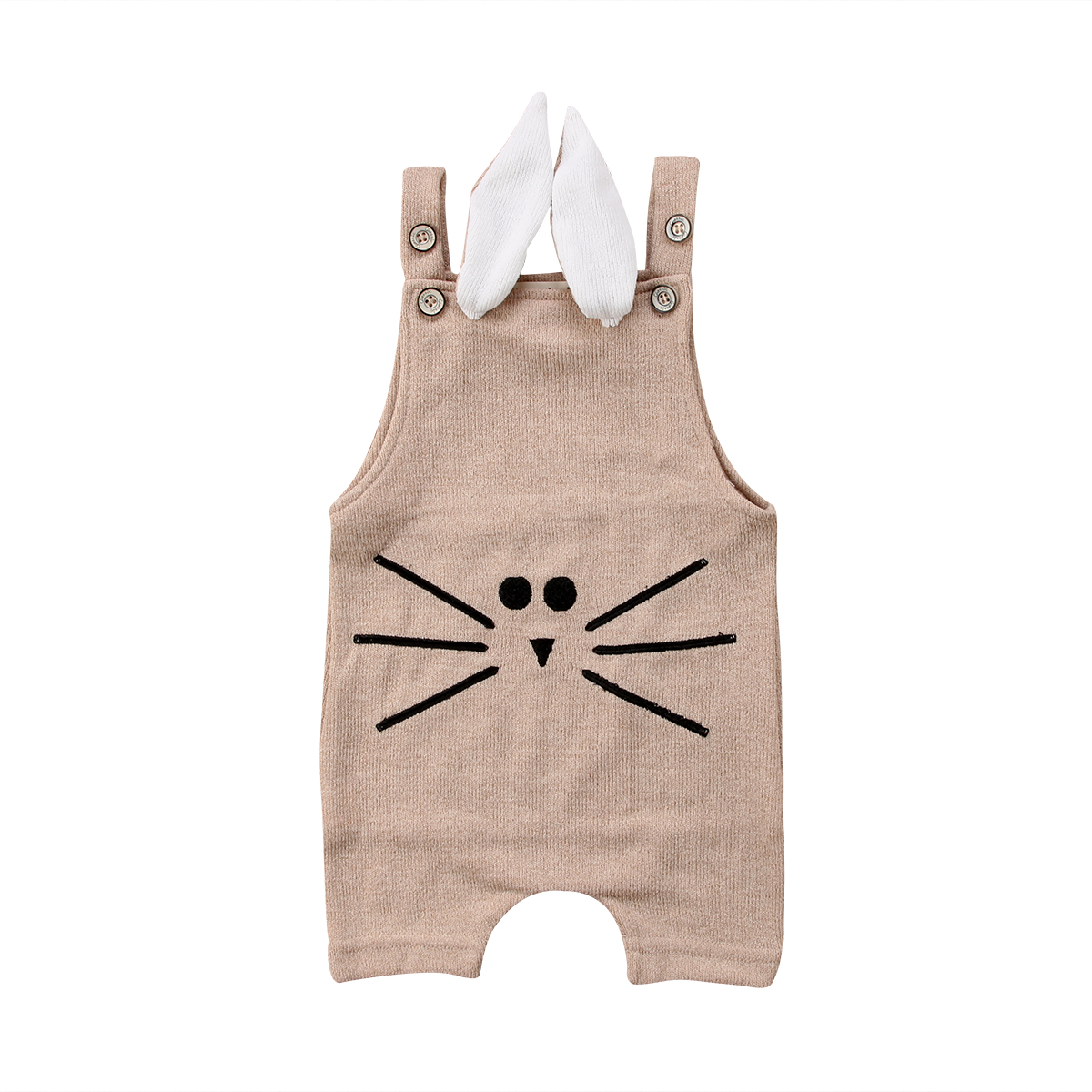 2018 New UK Newborn Infant Baby Boys Girls Romper Hooded Jumpsuit Clothes Outfit