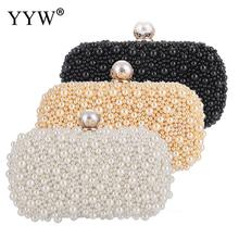 Pearl Clutch Women'S Bag 2019 Fashion Mini Clutches Handbags Luxury Evening Party Clutches Gold Chain Wedding Purse Bolso Mujer недорого