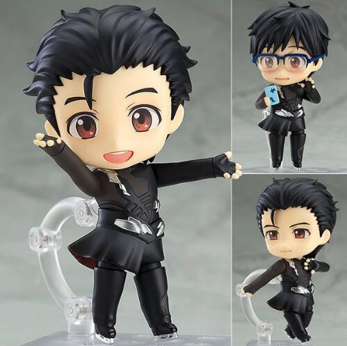 10cm YURI on ICE Nendoroid 736 # Katsuki Yuri Anime Cartoon Action Figure PVC toys Collection figures for friends gifts