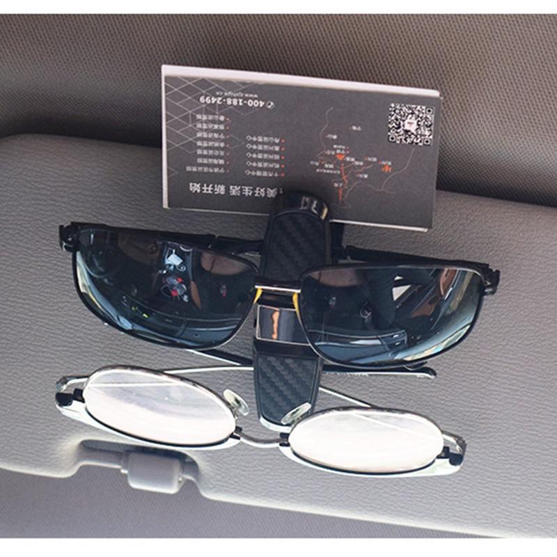 HOYOO Sun Visor Car Glasses Clip Sunglasses Holder Cases Fastener Cip Eyeglasses Clip Ticket Card Clamp Universal