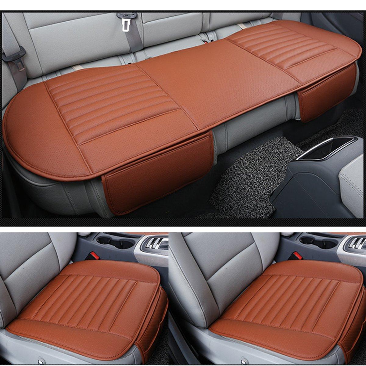 Universa tapis de protection de siège de voiture housse de siège de voiture hiver chaud avant arrière coussin de siège arrière en cuir Pu respirant sans dossier
