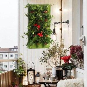 Image 5 - אנכי גן המטע, קיר שקיות השתילה קולבי חיצוני מקורה ירקות פרחים מיכל גדל סירים (9 כיס