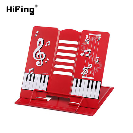 HiFing Portable Foldable Music Guitar Piano Stand Shelf Metal Holder For Musical Instrument Ipad Mobile Phone Book Magazine 30 note xylophone piano fleet foldable glockenspiel vibraphone new music knock e piano percussion instrument and paino bag
