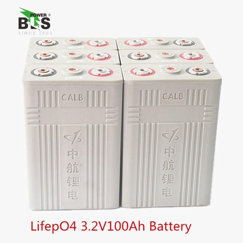 4 pièces CALB 100AH 3.2 V LiFePO4 batterie Rechargeable 100ah lithium ion polymère paquet de cellules pour 12 V 24 V 36 V e-bike UPS puissance HID ligh