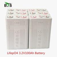 4PCS CALB 100AH 3.2V LiFePO4 Rechargeable battery 100ah lithium ion polymer cell pack for 12V 24V 36V e bike UPS Power HID ligh