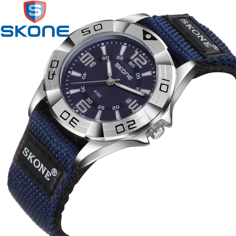 SKONE Brand Artificial Leather Watchband Watches Men Quartz Wristwatches Life Waterproof Women Watch HE6160