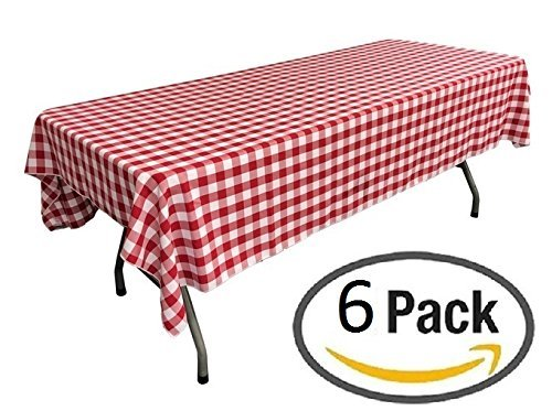 6 Pack Red White Checkered Tablecloths Picnic Table Covers Marry