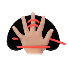 Professional Adjustable Hand Webbed Gloves Swimming Paddles Fins Strokes Practice Correction Tools