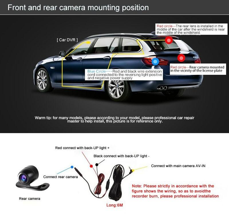 QUIDUX Dual lens G30 Car DVR Camera HD 1080P Video Recorder DVRs Night Vision Auto Dash cam Veicular Kamera two cameras Logger 13