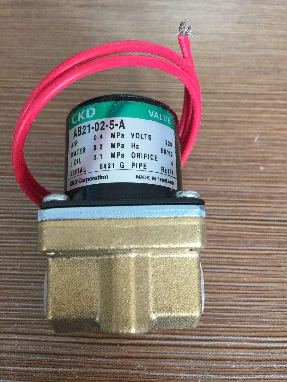 CKD solenoid valve AB21-02-5-A-AC220V Direct acting 2 port solenoid valve (general purpose valve) 1 2 2 2 way direct general service timer solenoid valve