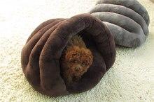 1 piece Cute warm pet cat bed small dog puppy Kennel sofa pet mat cat house cat sleeping bag winter nest