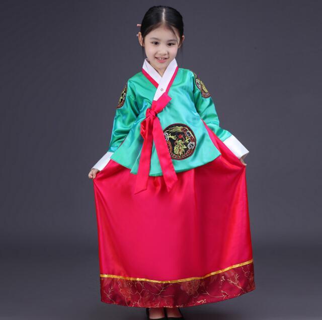 Hot Sale Hanbok Girl 2017 New Fashion Children Dress Korean Traditional Dress